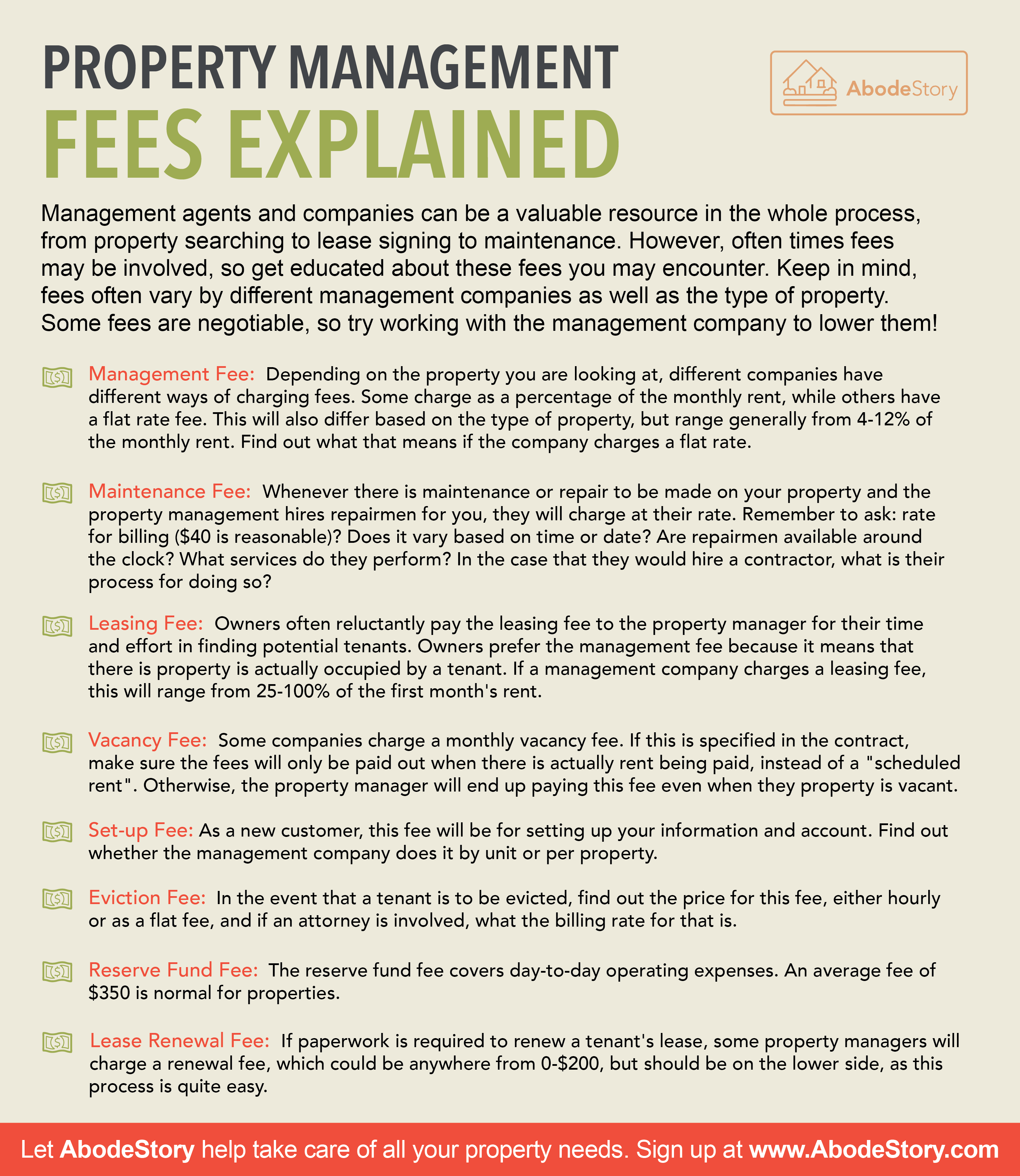 Property Fee tips
