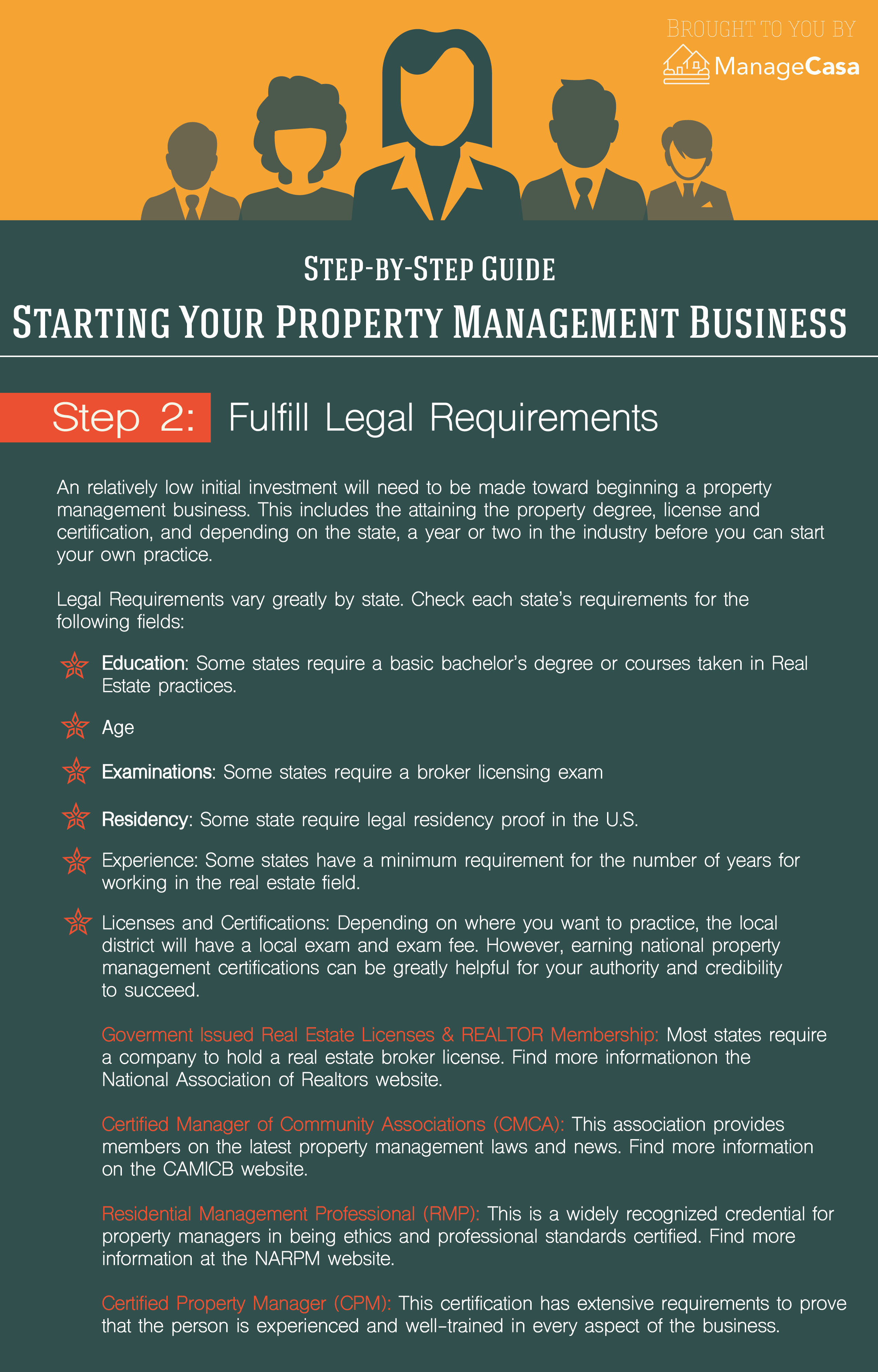 Managecasa Step Two Fulfill Legal Requirements For Your Property