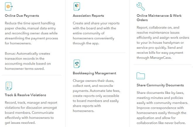 managecasa hoa software features